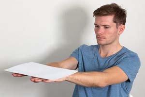 Проверка с листом бумаги