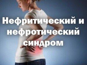 Нефритический и нефротический синдром