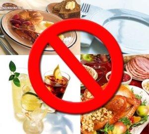 Запрещенные продукты питания при гастрите