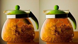 Липовый чай в чайнике