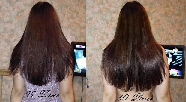 волосы до и после маски