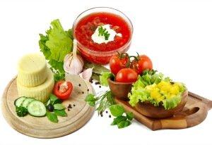 Овощи и сыр