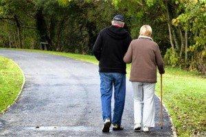 прогулка пожилых
