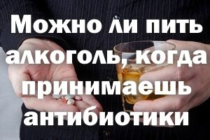 Можно ли пить алкоголь во время приема антибиотиков