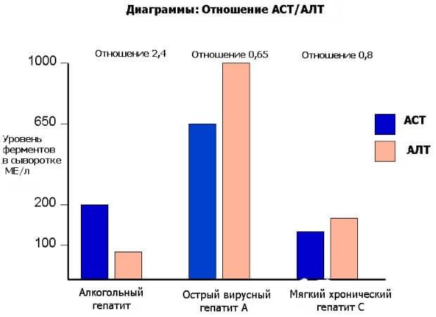 Отношение АСТ и АЛТ