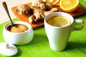 Чай с имбирем и коричневым сахаром