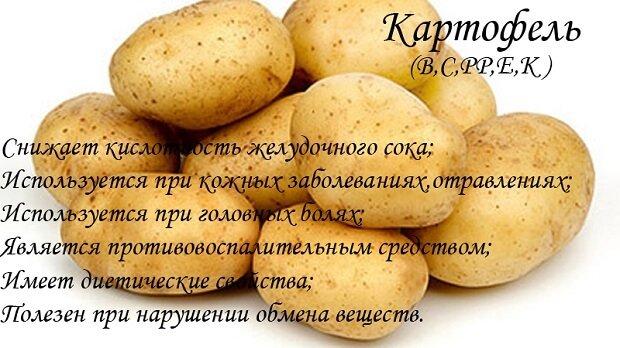Картофельные свойства
