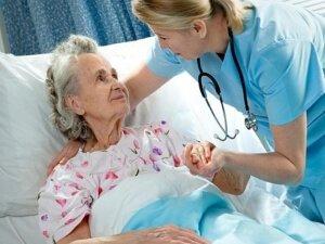 Лежачая пациентка