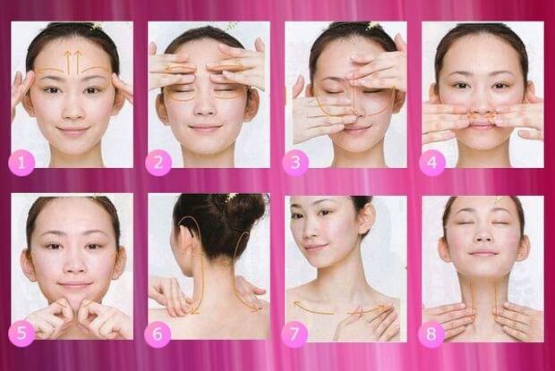 Японский массаж от морщин