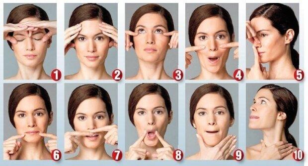 Упражнения для борьбы с мимическими морщинами на лице
