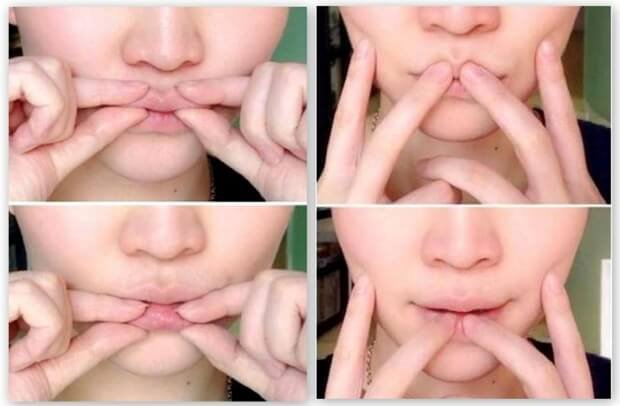 Массаж для области вокруг губ