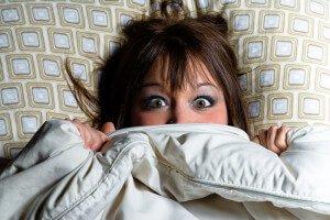Укрылась одеялом