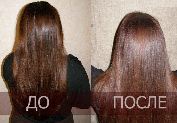 Волосы после применения отвара коры дуба