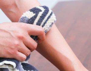 Охлаждение кожи после ушиба