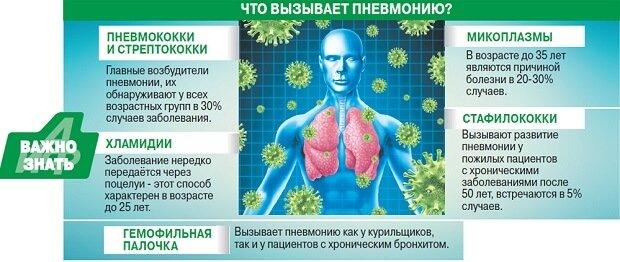 Основные возбудители пневмонии