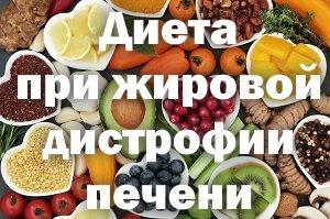 Питание при жировой дистрофии печени
