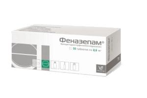 Лекарство Феназепам