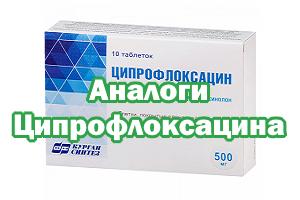 Заменители Ципрофлоксацина